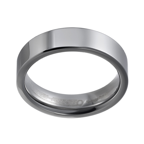 Tungsten wedding bands - polished delicate tungsten ring - 6mm