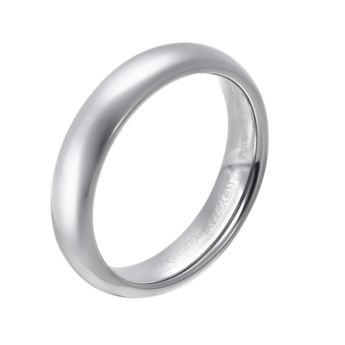 Tungsten wedding bands - delicate polished tungsten ring - 5mm